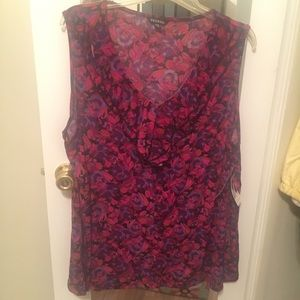 George Tank Top Blouse Size 3X NWT